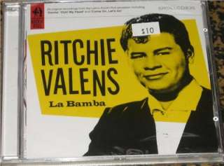 CD RITCHIE VALENS LA BAMBA 23 ORIGINAL RECORDINGS