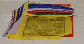 WHITE TARA CHENREZIG MEDICINE BUDDHA PRAYER FLAGS 25SET