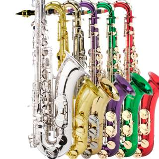 MENDINI TENOR SAXOPHONE SAX ~GOLD SILVER BLUE GREEN PURPLE RED +$39