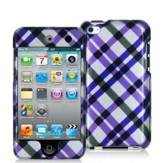 iPOD TOUCH 4 / 4G / 4TH FOUR CASE COMBO, PURPLE PLAID