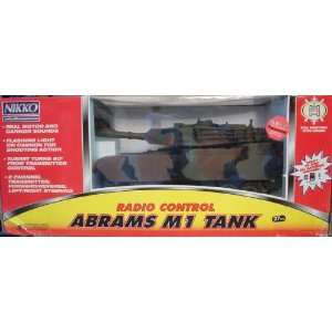 Nikko U.S. M1 Abrams Tank Radio Control Scale 1:25: Toys & Games