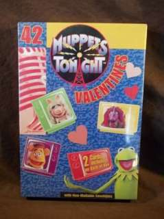 NEW RARE 42 MUPPETS TONIGHT VALENTINES DAY CARDS NEW IN BOX