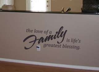 Love Of A Family Vinyl Wall Art Decal Lettering
