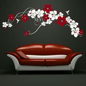 LARGE VINE butterflies + flowers wall art stickers giant stencils