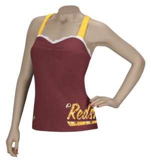 Washington Redskins Womens Cross Back Tank Shirt Large