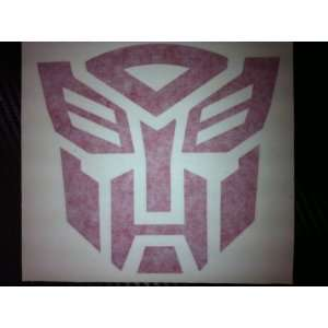 Transformers Autobots Racing Decal Sticker (New) Red Size 5x4.7