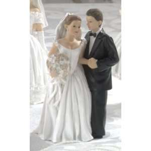 Wedding Cake Topper Caucasian Bride & Groom Wedding Cake Topper