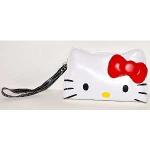 Hello Kitty Face Wristlet Purse Wallet Strap Everything